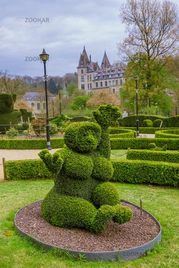 Bush sculpture in park - Durbuy Belgium