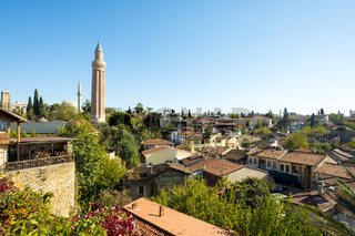 Mosque Tower Kaleici Old Town Roofs Antalya H
