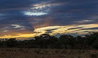 Abendhimmel ueber Namibia