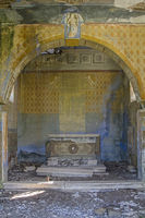 Lost place - dilapidated church inside