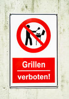 sign: with pictogram and text: