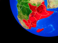 East Africa on Earth from space