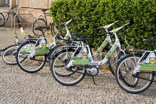 Mietfahrräder des Konzerns Lidl in Berlin