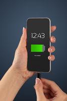 Hand charging phone