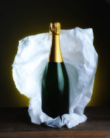 Champagne Bottle Still Life