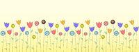 Spring or summer flower greeting card
