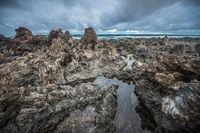 Volcanic coastline of Lanzarote, Canary islands, Spain