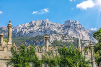 Ai-Petri view and the Vorontsov Palace towers, Crimea
