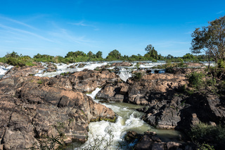 Somphamit Waterfalls or Liphi Waterfalls at Don Khone island in Laos