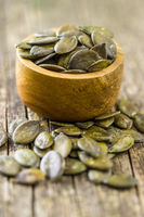 Peeled pumpkin seeds.
