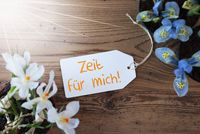 Sunny Flowers, Label, Zeit Fuer Mich Means Time For Me