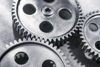 Three gears mesh