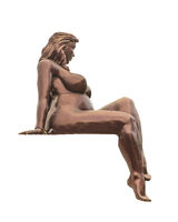 Voluptuous Woman Pose Sculpture Isolated Photo
