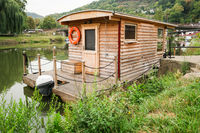 Wooden Houseboat