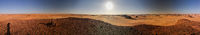 360 dergees Panoramic Aerial view to Djiara, Ahoita, Daleyala and Boukkou lakes group of Ounianga Serir lakes at the Ennedi, Chad