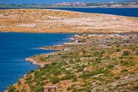 Zadar area stone desert scenery near Zecevo island