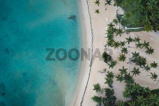 Drone shot of republic Dominican beach