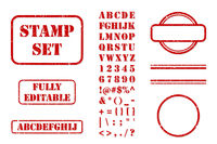 Rubber Stamp Set Vector
