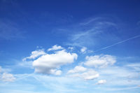 Deep blue sky with white heap clouds
