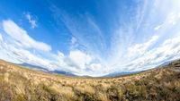 Mount Ruapehu volcano in New Zealand fisheye lens