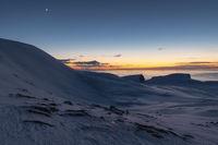 Dusk, Soeroeya Island, Finnmark, Norway