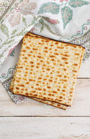 Traditional jewish flatbread matzo