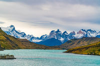 Scenic landscape of Torres del Paine National Park in Chile