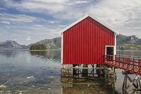 Bootshütten am Eiterfjorden