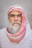 traditional arab man portrait