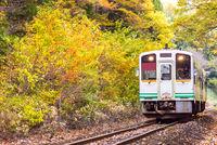 White train commuter Fukushima Japan
