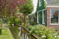 Traditional housing and architecture at Zaanse Schans close to Amsterdam in Netherlands.