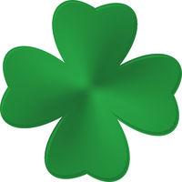 Green Clover Shamrock. Irish Saint Patrick Day.