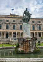 Statue to Sir Frederick Adam outside museum in Corfu
