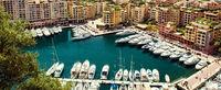 Panoramic view of Fontvieille. Principality of Monaco