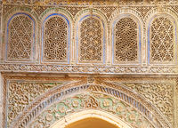 Old wall carvings decorated in Morocco