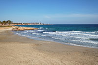 Empty Flamenco beach