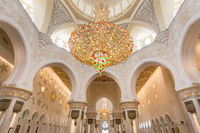 Sheikh Zayed Grand Mosque in Abu Dhabi, UAE, beautiful interior