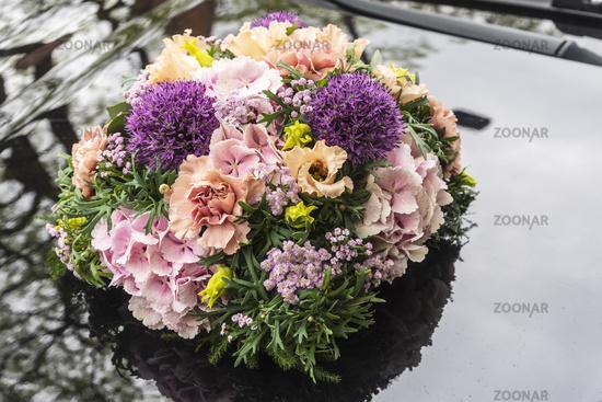 bridal bouquet, car, Germany, Europe