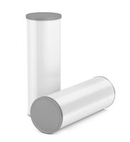 White blank tin cans
