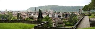 Blick vom Burgberg auf die Stadt Gorizia