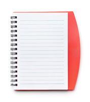 Top view of open notebook