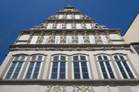 Minden - Old town gable of the Weser Renaissance, Germany