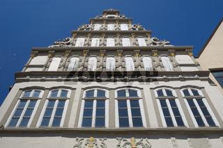 Minden - Altstadtgiebel der Weserrenaissance, Deutschland
