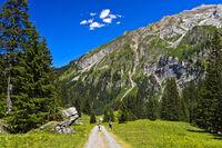 Hiking in the valley Iffigtal, nature reserve Gelten-Iffigen, Lenk, Switzerland