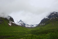 Mountain and valley in Norway