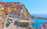 Panoramic view of Manarola town