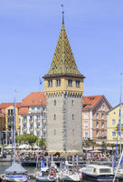 Tower named Mang, on Lindau Harbour, Lake Constance, Germany