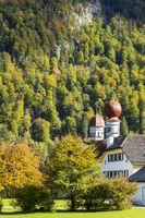 Kirche Sankt Bartholomä am Königssee in Bayern