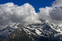 Cumulus clouds above the Mont Blanc massif, Saint-Gervais-les-Bains, Haute-Savoie, France
