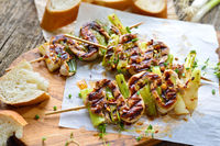 Spanish fillet skewers